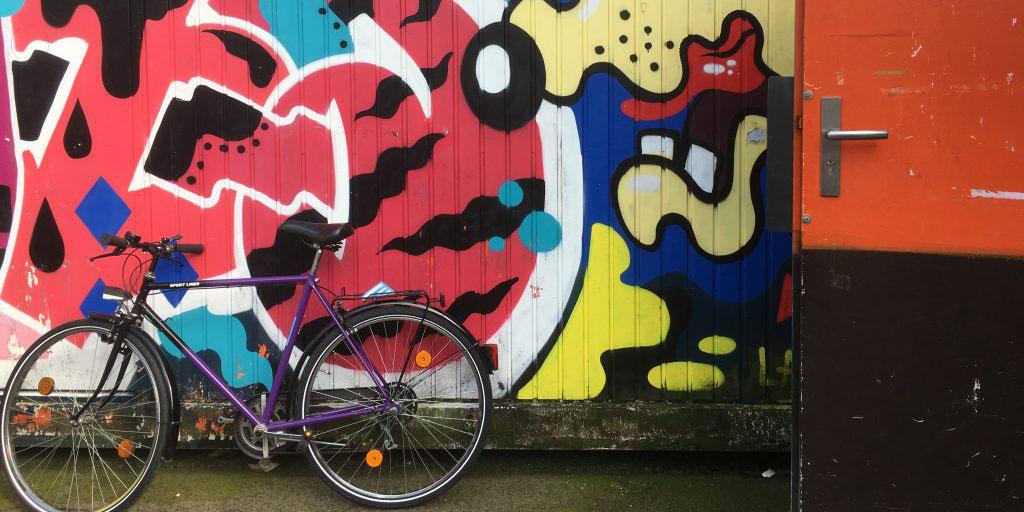 Mit dem Fahrrad zum Integrationskurs